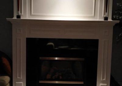Refinished Fireplace.
